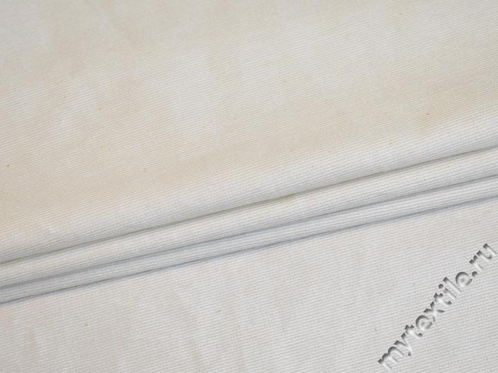 Костюмная молочная ткань из хлопка с эластаном ВЕ618