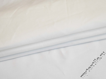 Костюмная белая ткань из хлопка с эластаном ВЕ616