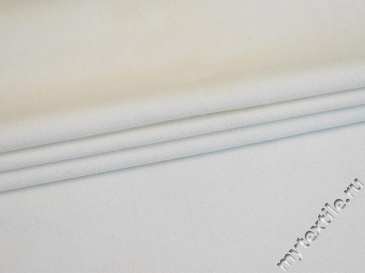 Костюмная молочная ткань из хлопка с эластаном ВЕ615
