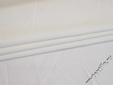 Костюмная белая ткань хлопок с эластаном ВЕ611