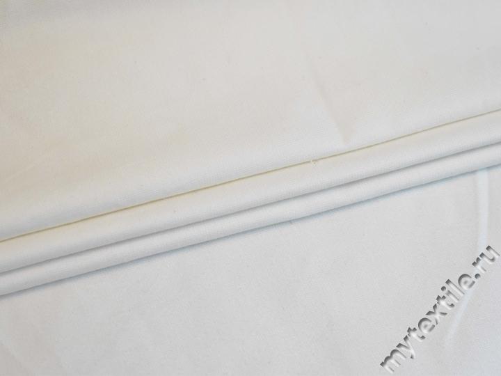 Костюмная белая ткань хлопок с эластаном ВЕ614