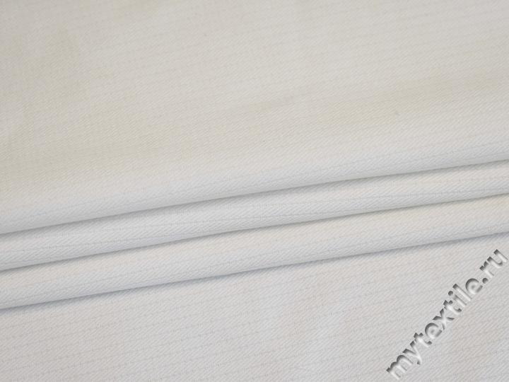 Костюмная кремовая ткань хлопок с эластаном ВЕ65