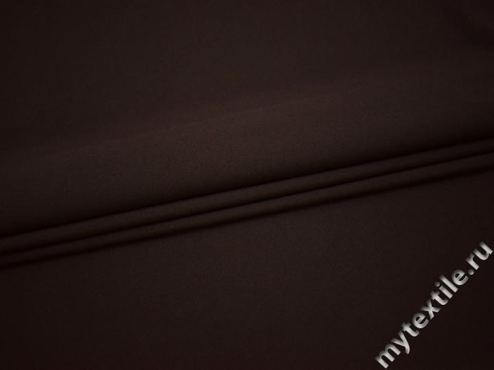 Габардин тёмно-коричневый полиэстер ВБ242