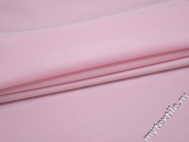 Габардин розовый полиэстер ВБ255