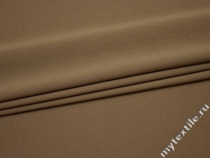 Костюмный креп тёмно-бежевый полиэстер с эластаном ВБ240