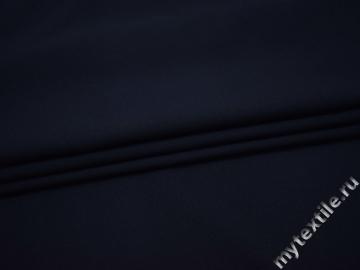 Костюмный креп синий полиэстер с эластаном ВБ234