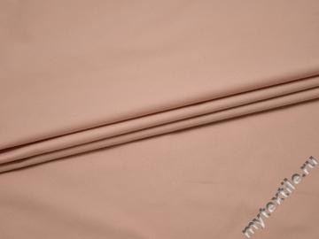 Костюмная персиковая ткань хлопок с эластаном ВА434