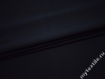 Костюмная тёмно-синяя ткань вискоза полиэстер ВА438