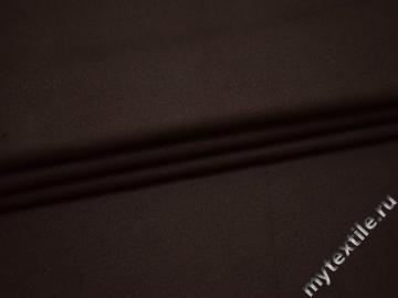 Костюмная коричневая ткань хлопок ВА46