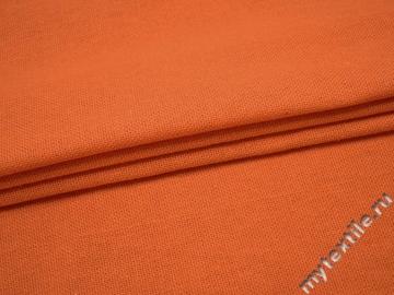 Костюмная оранжевая ткань хлопок ВА47