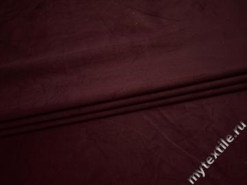 Костюмная бордовая ткань хлопок с эластаном ВА410