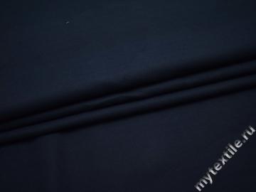 Костюмная синяя ткань хлопок ВА413