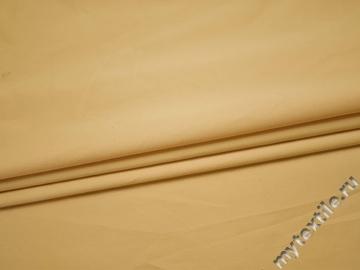 Костюмная желтая ткань из хлопка с эластаном ВА42