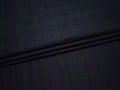Костюмная ткань зеленая с принтом  клетка хлопок ВА310
