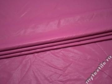 Кожзаменитель розовый полиэстер ГЕ148