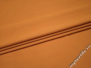Костюмная оранжевая ткань хлопок полиэстер ВА420