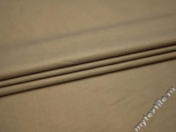 Костюмная бежевая ткань хлопок ВА421