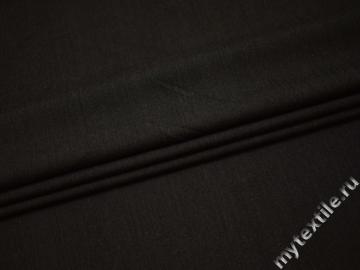 Костюмная ткань цвета хаки хлопок с эластаном ВА427