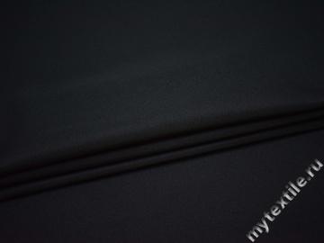 Костюмная чёрная ткань полиэстер ВА519