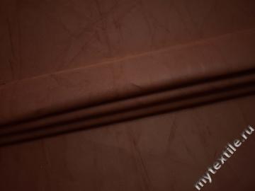 Костюмная коричневая ткань хлопок ВА522