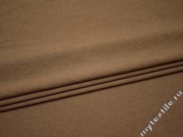 Костюмная бежевая ткань полиэстер ВА59