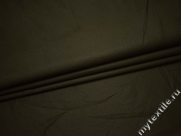 Костюмная цвета хаки ткань хлопок ВА56