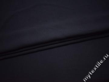 Костюмная тёмно-синяя ткань полиэстер хлопок ВА55