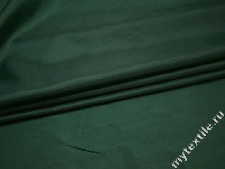 Подкладочная зелёная ткань полиэстер ГА46