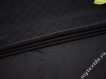 Подкладочная черная ткань с надписью  ГЕ477