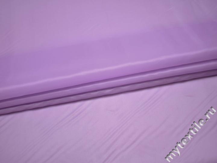 Подкладочная сиреневая ткань полиэстер ГЕ456