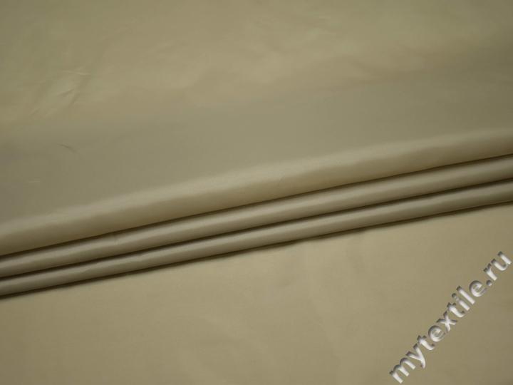 Подкладочная бежевая ткань полиэстер ГЕ497
