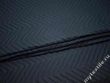 Курточная стеганая синяя полиэстер ДБ469
