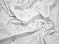 Курточная стеганая белая с вышивкой ДБ451