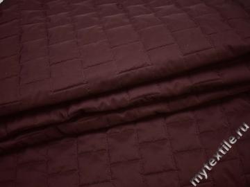 Курточная стеганая бордовая из полиэстера ДБ463