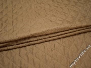 Подкладка стеганая бежевая из полиэстера ДГ411
