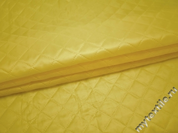 Подкладка  стеганая лимонная из полиэстера ДГ426