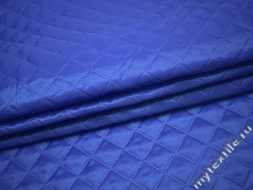 Курточная стеганая синяя из полиэстера ДГ48