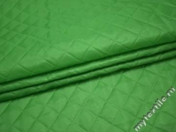 Подкладка стеганая зеленая из полиэстера ДГ42