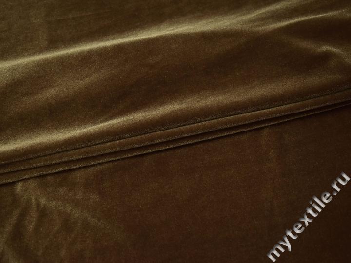 Бархат-стрейч бежево-коричневый Г/В1-11