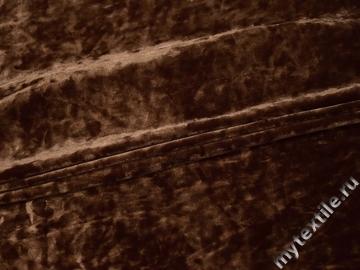 Бархат-стрейч коричневый Г/В1-5