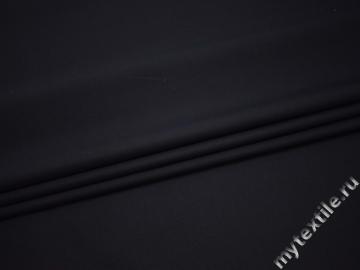 Костюмная синяя ткань хлопок полиэстер ВБ338