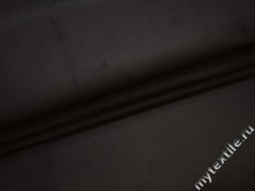 Костюмная черная ткань хлопок с полиэстером  ВБ117