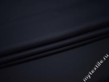 Костюмная тёмно-синяя ткань вискоза  ВБ113