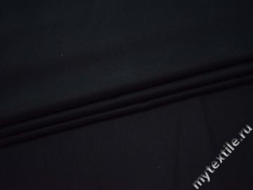 Костюмная тёмно-синяя ткань хлопок с эластаном ВБ11
