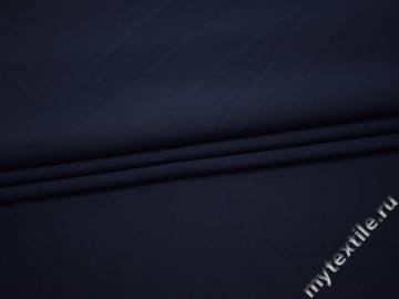 Костюмная синяя ткань хлопок с эластаном ВБ12