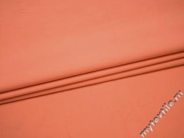 Костюмная оранжевая ткань хлопок с эластаном ВБ122