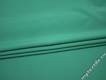 Костюмная зеленая ткань хлопок с эластаном ВБ124