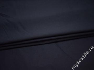 Костюмная синяя ткань хлопок с эластаном ВБ132