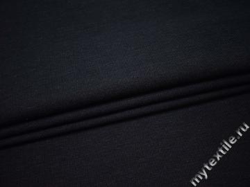 Костюмная тёмно-синяя ткань хлопок ВБ141