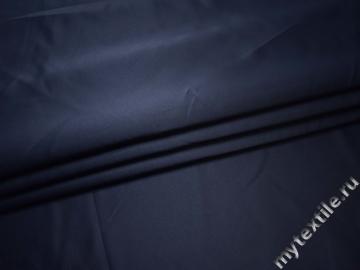 Костюмная синяя ткань полиэстер ВА619